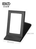 化妆镜 貝覽得鏡子化妝鏡 折疊鏡 PU梳妝鏡高清鏡面隨身便攜 交換禮物