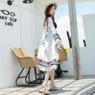 防曬衣女薄款2021新款夏季寬鬆中長款防曬服韓版海邊度假百搭外套「時尚彩紅屋」