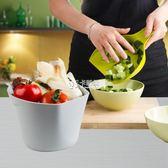 桌面垃圾桶 創意廚房多用收納桶塑料桶迷你垃圾桶果皮箱帶鏟子收納箱 卡菲婭
