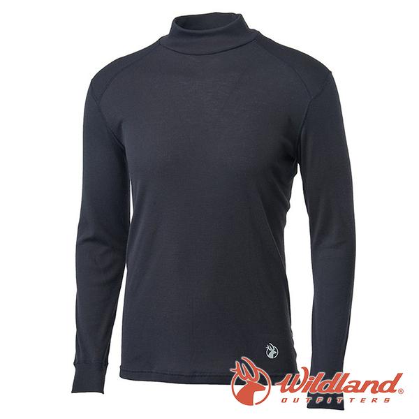 【wildland 荒野】男 Highest彈性立領保暖衣『黑色』H2662 戶外 休閒 運動 冬季 保暖 禦寒 內著
