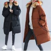 外套【R71】FEELNET中大尺碼女裝冬裝中長款洋氣寬松棉衣 L~3XL