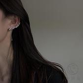 超閃鋯石長款耳環女時尚簡約氣質高級感耳骨夾耳飾品【小酒窝服饰】