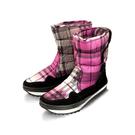 [Polar Star] PS 女格紋保暖雪鞋 紅紫 (2164P15604606)