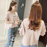 衣服2018夏裝新款韓版短袖t恤女寬鬆百搭學生棉麻短款半袖上衣潮 溫暖享家