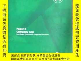 二手書博民逛書店A.I.A-Paper罕見8 Company LawY19479
