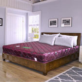 【時尚屋】緹花蓆面6尺加大雙人硬式彈簧床墊Q1-006可選色/台灣製/免組裝/免運費