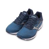 MIZUNO WAVE RIDER 23 寬楦慢跑鞋 深藍銀 J1GC190404 男鞋