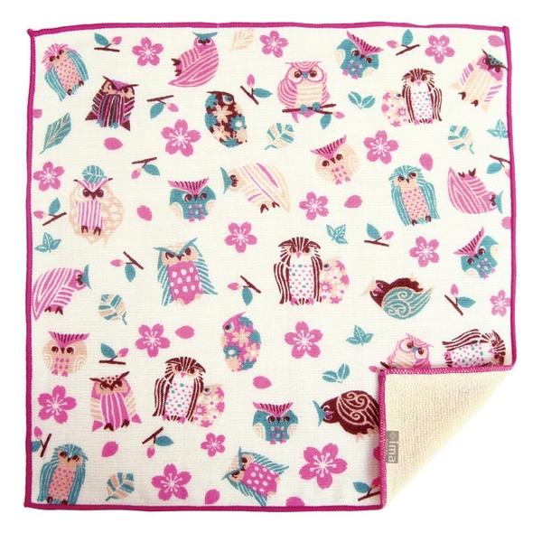 【日本製】【+ima】今治毛巾 Imabari Towel 禮品組  手帕 櫻花和貓頭鷹 SD-2147 - 日本製