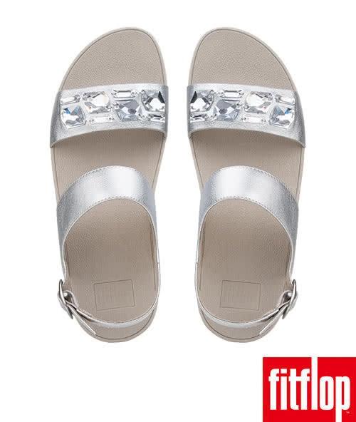 【FitFlop TM】SPARKLIE TM BACK STRAP SANDAL(銀色)