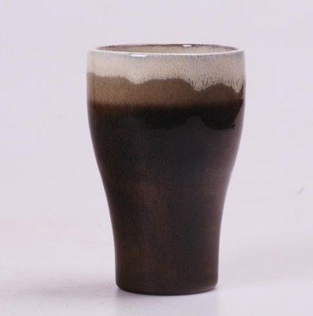 日式茶具 手工粗陶 窯變隨手杯