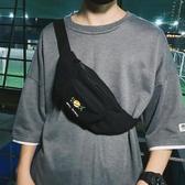 斜挎包ins潮牌運動小背包女男士胸包帆布單肩包嘻哈個性學生腰包