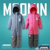 童裝中大兒童連體滑雪服加厚陽離子戶外連體棉衣防水風