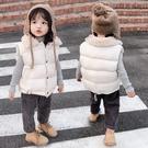 男女童棉背心秋冬裝羽絨棉馬甲保暖棉服外套【聚可愛】
