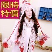 圍巾+毛帽+手套羊毛三件套-優雅有型韓版保暖女配件63n43【巴黎精品】