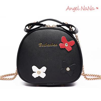 高品質熱銷BEIBAOBAO斜背包-可愛立體蝴蝶結糖果色鍊條包小圓手提包 (SBA0233) AngelNaNa