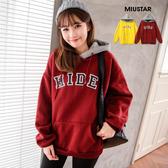 現貨-MIUSTAR HIDE配色連帽大口袋內刷毛棉質上衣(共2色)【NF4944ES】