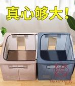 衣服收納箱布藝牛津布整理盒箱子袋子可折疊筐衣物袋【櫻田川島】