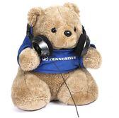 雙12好物HD650/HD800耳機支架紀念小熊頭戴式耳機架掛耳機 貝芙莉