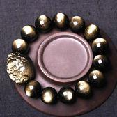 【新年鉅惠】雙金眼金曜石情侶貔貅手鍊顆顆金眼男手串手鍊正韓簡約個性新品