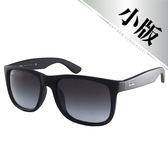 台灣原廠公司貨-【Ray-Ban 雷朋】亞洲加高鼻墊款-霧黑-漸層灰鏡面(4165F-622/8G-55)