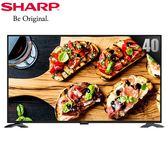 【佳麗寶】留言享加碼折扣 (SHARP夏普) 40型FHD智慧聯網顯示器+視訊盒 2T-C40AE1T 含運送