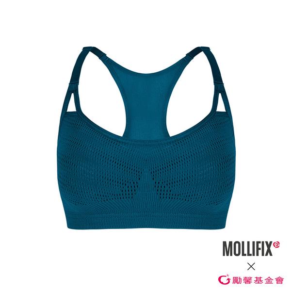 【勵馨公益聯名】Mollifix 瑪莉菲絲 A++暢意可調肩帶舒彈BRA (藍綠)