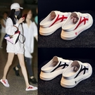 懶人半拖女外穿年夏季新款厚底涼拖百搭韓版網紅包頭小白鞋子「時尚彩紅屋」