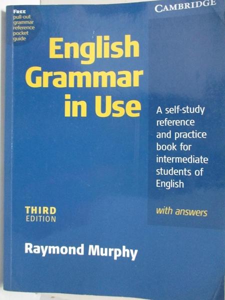 【書寶二手書T1/原文書_I8O】English Grammar in Use-A Self-Study Reference..._Murphy
