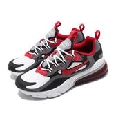Nike 休閒鞋 Air Max 270 React GS 灰 紅 女鞋 大童鞋 運動鞋 【PUMP306】 BQ0103-011