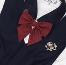 領帶領結 原創jk制服s羽根純色斜角學生領結西服水手服毛衣配飾 韓菲兒