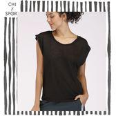 Chi sport性感透氣T恤女運動短袖半透明寬鬆性感跑步健身上衣黑色綠寶藍玫瑰粉(CST18025)
