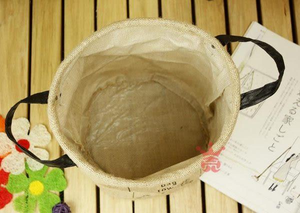 日系zakka雜貨簡約.復古字母置物桶.收納桶.置物籃.收納籃.髒衣籃.儲物桶(小)