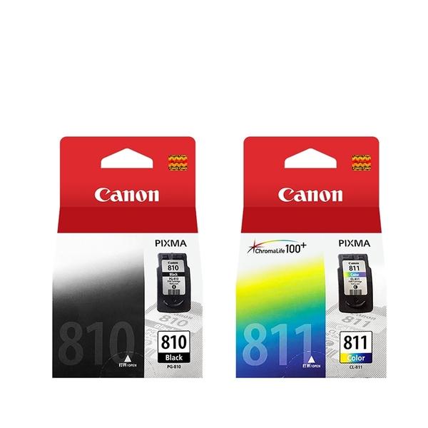 原廠墨水匣 CANON 1黑1彩 PG-810 + CL-811 /適用 CANON MP237/iP2770/MP245/MP258/MP268