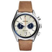 FOSSIL Del Rey 雙眼計時腕錶/手錶-淡金x褐色/43mm CH2952