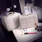 化妝包 小號便攜韓國簡約大容量旅行帶鏡子化妝品收納包
