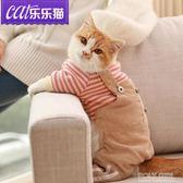 貓咪衣服英短加菲布偶小貓成貓短腿寵物貓夏季寵物服裝春夏四腳衣 polygirl