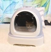 貓吉拉-貓砂盆防外濺全封閉式除臭特大號貓廁所沙貓屎盆貓咪用品LX