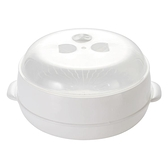 微波爐內用蒸饅頭包子器皿廚房用品大號蒸魚熱飯專用蒸籠圓形蒸屜   新品全館85折