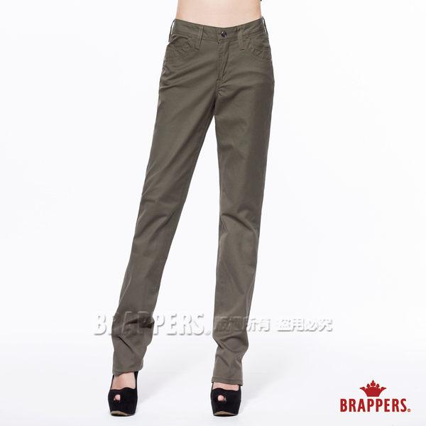 BRAPPERS 女款 新美腳Royal系列-女用中腰彈性鑲鑽直筒褲-綠