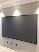 投影幕布堅果投影幕布超窄邊黑晶畫框幕80/100/120寸16:9高清4K屏幕壁掛辦公家 LX 貝芙莉