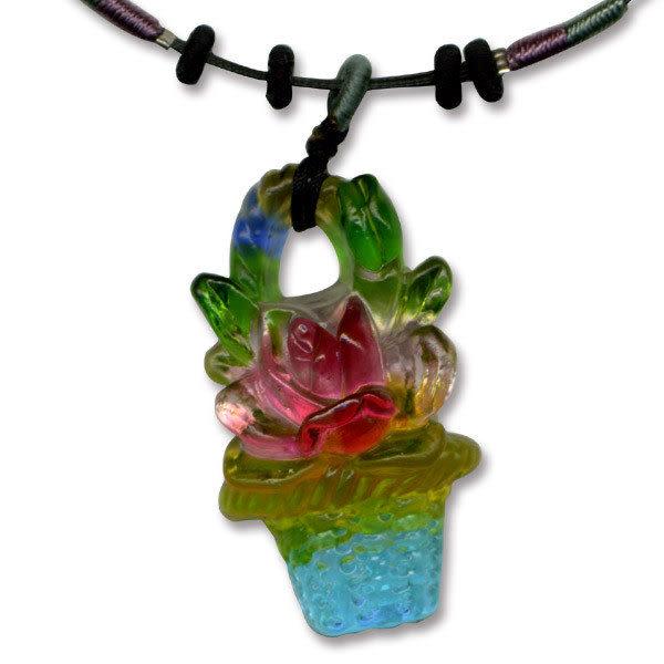 鹿港窯~居家開運水晶琉璃項鍊~滿 附精美包裝◆免運費送到家◆