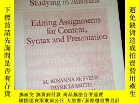 二手書博民逛書店Studying罕見in Australia Editing Assignments for Content,Sy
