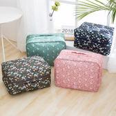 《WEEKEIGHT》行李箱拉桿適用 時尚高質感防潑水花紋手提雙層多功能衣物收納袋/旅行袋