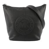 【MICHAEL KORS】圓形皮革LOGO水桶包(黑色) 35F9SG0M3L BLACK