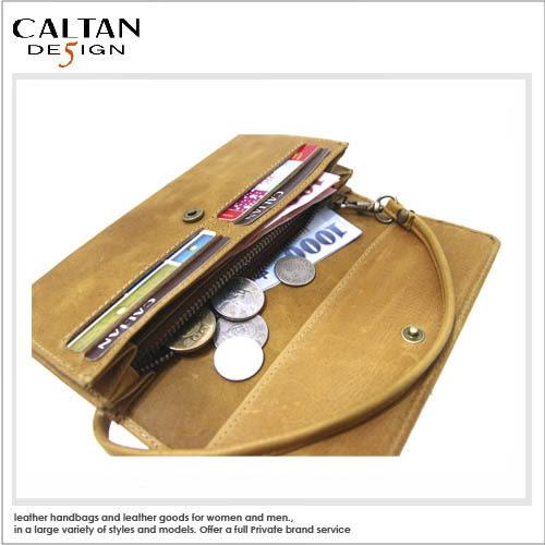 牛皮/長夾【CALTAN】真皮簡約素雅多功能手拿長夾2061ht