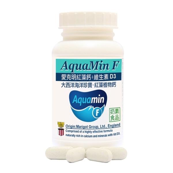 【赫而司】愛克明紅藻鈣+D3(60顆*2罐)愛爾蘭Aquamin-F海藻鈣片(奶素)