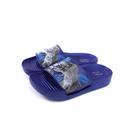 小男生鞋 拖鞋 戶外 藍色 恐龍 中童 童鞋 A94716-550 no030