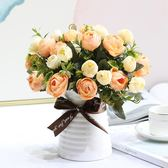 室內假花仿真花藝茶幾客廳擺設裝飾裝飾花塑料花盆栽擺件 HH2204【極致男人】