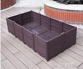 陽台種植箱家庭屋頂種菜盆長方形菜園戶外種菜槽設備特大花盆組合igo 3c優購