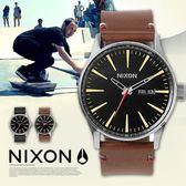 【人文行旅】【最新作】NIXON | A105-019 THE SENTRY Leather 時尚軍風